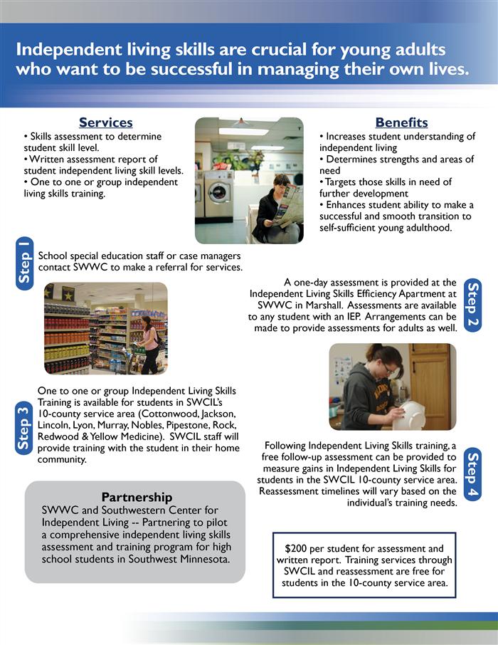 Independent Living Skills / Flyer & Registration